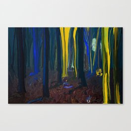 Stay Wild Yellow Moon Canvas Print
