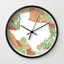 Texas Forever - Earth Wall Clock