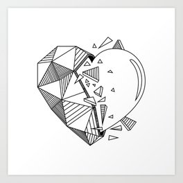 Geometrical Heart Art Print