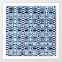 batik Art Prints featuring Blue Batik by Elena Indolfi