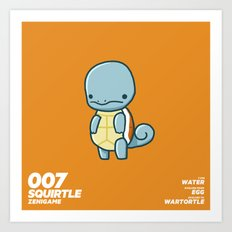 007 Squirtle Art Print