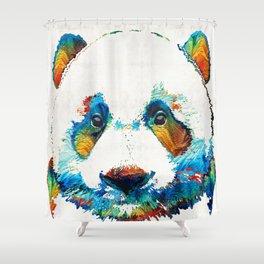 Colorful Panda Bear Art By Sharon Cummings Shower Curtain