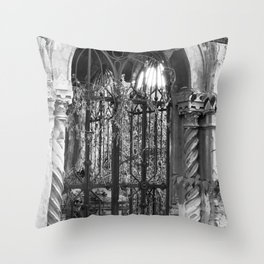 old gate Throw Pillow