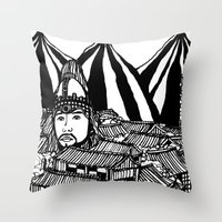 korea Throw Pillows featuring Korea by Matt Ferguson