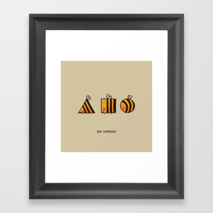 BEE DIFFERENT Framed Art Print