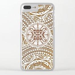 Tribal Turtle Henna Mandala Maze Clear iPhone Case