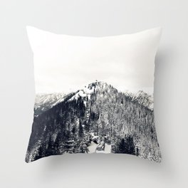 Only Half the Trees, Dusted in Snow Throw Pillow