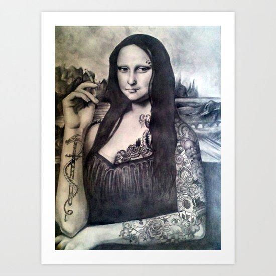 Tatted Lisa Art Print