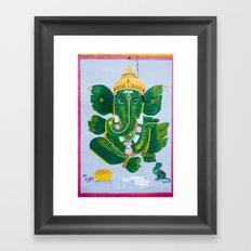 Pan Leaf Ganesh Framed Art Print