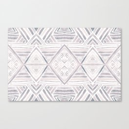 Mirror Pattern Tribal Style - purple, orange & gray Canvas Print