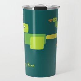 Happy Bird-Green Travel Mug