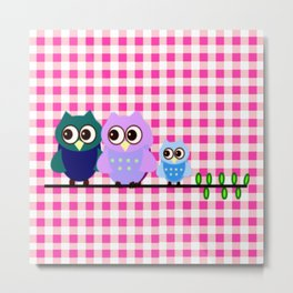 Pretty Owls Metal Print