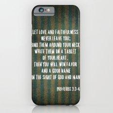 Proverbs 3:3-4 iPhone 6s Slim Case
