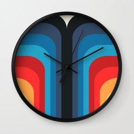 Retro Rainbow 01 Wall Clock