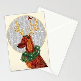 Irish Setter Christmas Stationery Cards