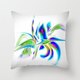 Abstract perfection - Flower Magical Throw Pillow