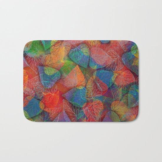 Multicolor Leaves Bath Mat