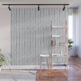 Knit Wave Grey Wall Mural