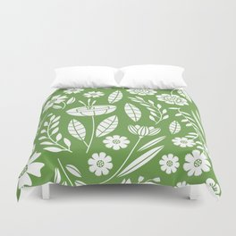 Blooming Field - green Duvet Cover