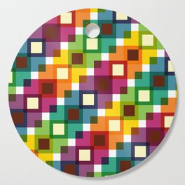 Geometric Pattern 11 (Colorful squares) Cutting Board