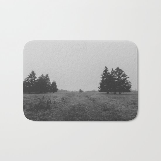 Siblings - black and white landscape photography Bath Mat