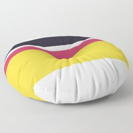 An astonishing integration of Very Light Pink, Raisin Black, Smoky Black, Dingy Dungeon and Piss Yellow stripes. Floor Pillow
