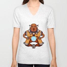 Mok the Monk Pixel Art Unisex V-Neck