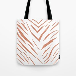 Gold design Exotic lines on white Tote Bag