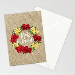 Tropical Paradise Hawaiian Holiday Wreath Stationery Cards
