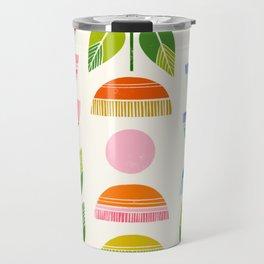 Sugar Blooms - Abstract Retro Inspired Design Travel Mug