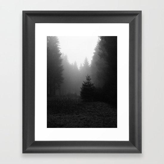 even more trees. Framed Art Print