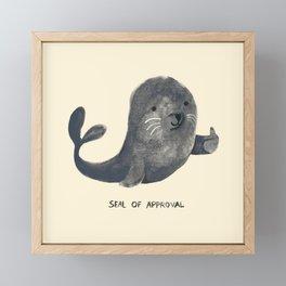 Seal Of Approval Framed Mini Art Print