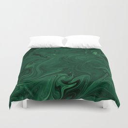 Modern Cotemporary Emerald Green Abstract Duvet Cover