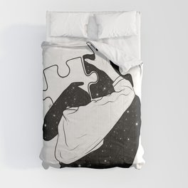 The puzzle love. Comforters