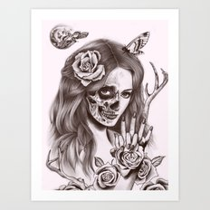 Goodnight Girl Art Print