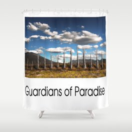 Guardians of Paradise Shower Curtain