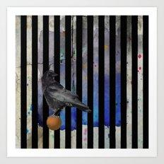 Crow Stripes Art Print