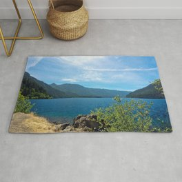 Lake Crescent Washington Rug
