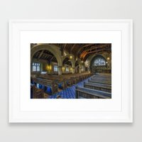 christ Framed Art Prints featuring Christ Church by Ian Mitchell