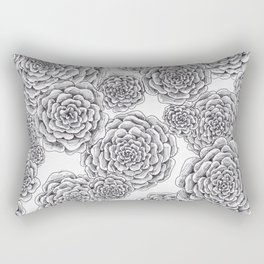 "flowers or ""pinecones from top"" hand drawn Rectangular Pillow"