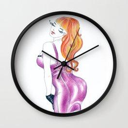 Pink Latex Dress Wall Clock