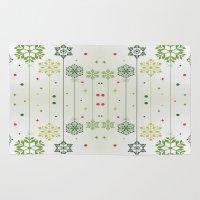deco Area & Throw Rugs featuring Holidays Deco by Elena Indolfi