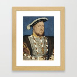 Portrait of Henry VIII of England by Hans Holbein Framed Art Print
