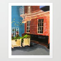Alleyway Lights Art Print