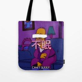 Insomniac cartoon Tote Bag