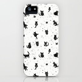 black cats iPhone Case