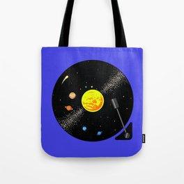Solar System Vinyl Record Tote Bag