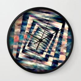 Rotating Grunge Rectangle Wall Clock