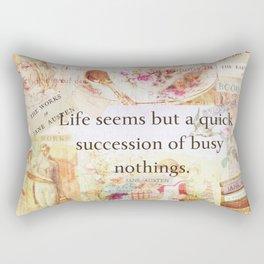 Jane Austen Funny Life Quote Rectangular Pillow