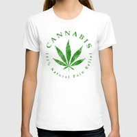 cannabis T-shirts featuring Cannabis by PsychoBudgie